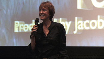 Kathy Eldon speaks to the 2010 MY HERO Film Festival audience