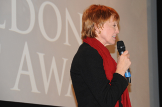 Kathy Eldon shares her son's, Dan Eldon, story as she introduces the winner of the 2011 Eldon Activist Award