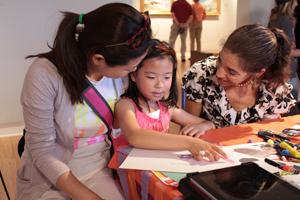 MY HERO's Victoria Murphy with children at 2013 Imagination Celebration.