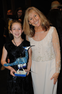 Emily Baker poses with Film Festival Director Wendy Millette