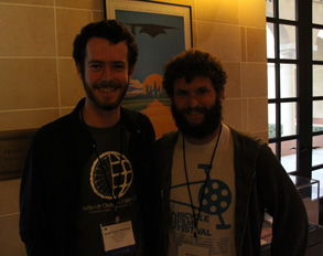 Jacob Seigel-Boettner and Ian Wexler, winners of the Dan Eldon Activist Award for 'Pedal=Sight'
