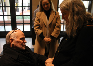 Ron Kovic and Jeanne Meyers