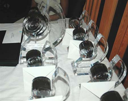 A picture of the awards that the winners of the IFFF received. <P>Photos Courtesy of IFFF
