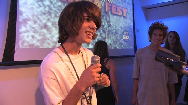 Filmmaker Max Caputo at the Laguna Hero Fest