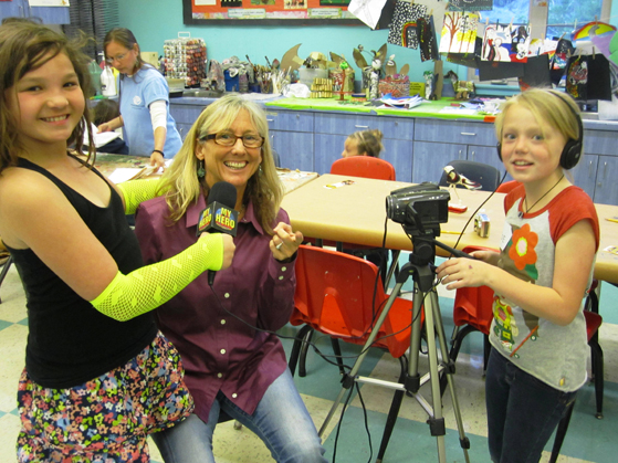 Students interview Wendy Milette (MY HERO Media Arts Director) and practice their filmmaking skills