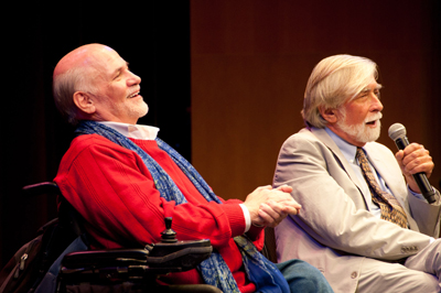 Ron Kovic and Robert Scheer