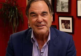 Oliver Stone filmed a message to his good friend Ron Kovic