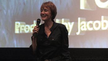 Kathy Eldon, mother of Peace activist Dan Eldon, speaks to the audience at the 2010 MY HERO Film Festival