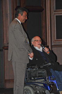 Ron Kovic introduces the winner of the 2011 Ron Kovic Peace Prize, Azim Khamisa