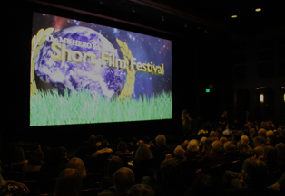 Audience awaits anxiously for the next film at the 2010 MY HERO Short Film Festival