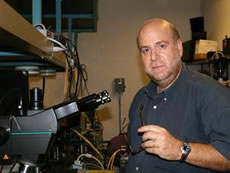 Sadik Esener in his lab