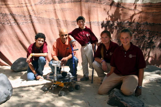 <h6>The team:From left to right: Antonio Campos, Kobie Boykins, Alex Garrett, Jean Robinson, and Janelle Wilson. <p></h6>