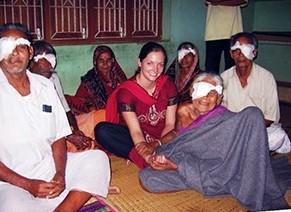 Unite for Sight volunteer Alyssa Titus in Orissa, India