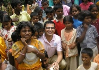 Unite for Sight volunteer Walid Mangal in Erode, India