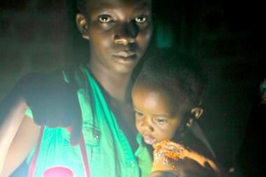 Startup group Solar Sister is a 'business in a bag' working in several African countries to bring affordable lighting to families.  Courtesy of Dowser.org