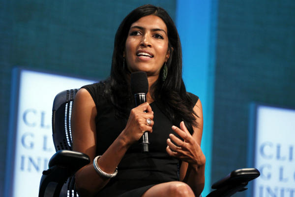CEO and founder of Samasource Leila Janah takes part in a session during the Clinton Global Initiative in New York in 2010. Samasource provides women in developing countries with 'microwork' via the Internet, reducing poverty.  <P>Lucas Jackson/Reuters/File