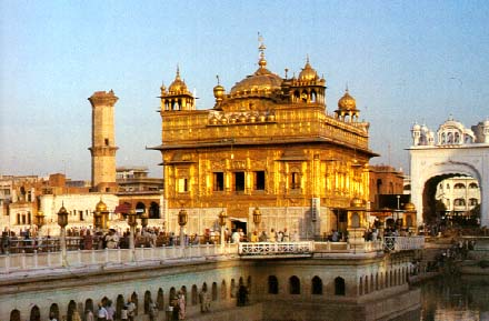 The Golden Temple in Amritsar is sacred to Sikhs.