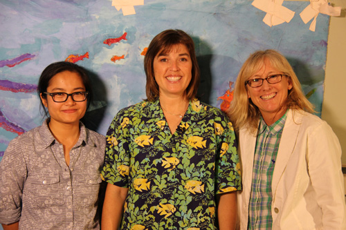 Left to Right: - Anabelle Vo-Filmmaker,  Nancy Caruso-Marine Biologist,  Wendy Milette- Filmmaker