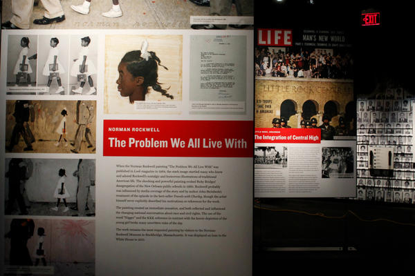 An exhibit at the new National Center for Civil and Human Rights in Atlanta shows hidden gems from the Civil Rights era in the US. The exhibit was designed by Broadway playwright, director, and producer George Wolfe. <P>Tami Chappell/Reuters
