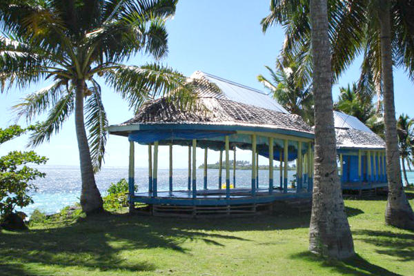 A traditional 'fale' structure stands on the coast on the island of Savaii in Samoa, in the central South Pacific. <P>Courtesy of Catherine Wilson/Thomson Reuters Foundation