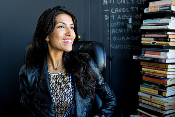 JOB CREATOR: Leila Janah, founder of the nonprofit group Samasource, is seen in her office in San Francisco in September 2014. <P>Sarah Deragon/Portraits to the People/Samasource