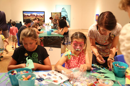 Young artists busy at work at the MY HERO art booth at Laguna Art Museum (The MY HERO Project)