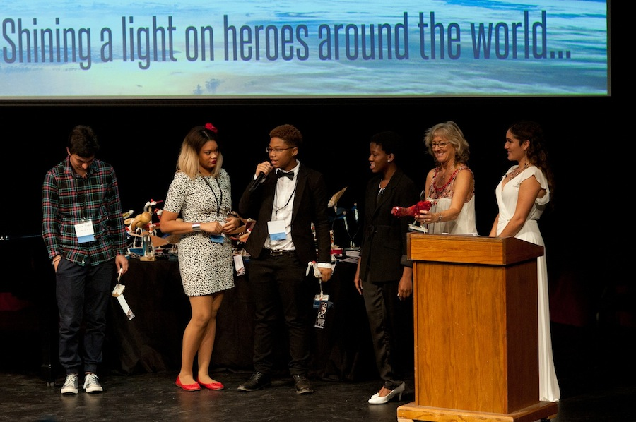 Nashville Students Accepting their Student Mentor Award at the MY HERO International Film Fest