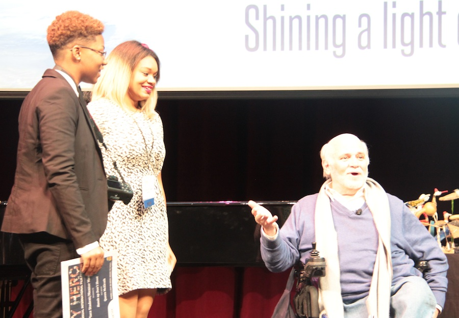 Former Marine Turned Peacemaker Ron Kovic Honors Nashville Students Queen McElrath and Aniea Cody for their Efforts Toward Peace