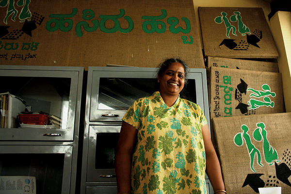 ORGANIZER: Social worker Nalini Shekar chose helping the outcast and poverty-stricken waste pickers of Bangalore, India, over retirement. Elizabeth Soumya