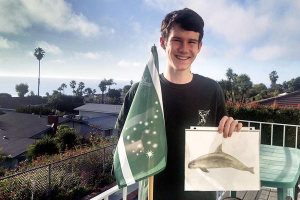 SAVE THE PORPOISE: William Whittenbury is on a one-teen crusade on behalf of the vaquita, a rare species found in the northern Gulf of California. <P>Courtesy of Beth Whittenbury