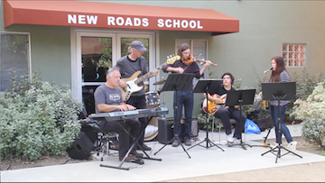 MY HERO Music Director Stuart Perlman performs with New Roads musicians