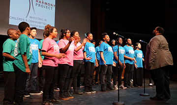 Director Kenneth Anderson and the Harmony Project Choir