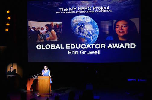 Erin Gruwell - recipient of MY HERO's 2015 Global Educator Award