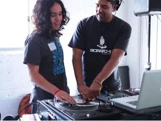 "Enjoying the DJ Workshop, ""Give a Beat"""