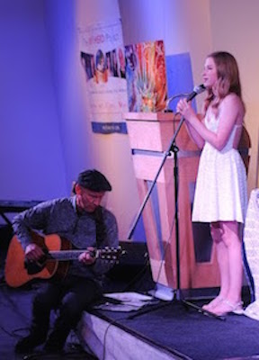 Whitney Winefordner and John Huessenstam Entertain the Audience