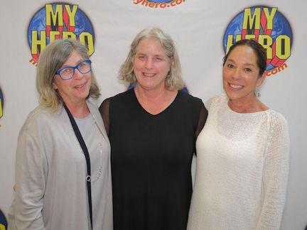 The founders of The MY HERO Project, Karen Pritzker, Jeanne Meyers and Rita Stern Milch