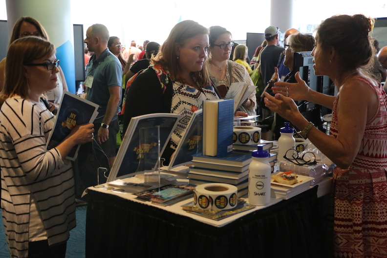 Thousands of teachers stopped by the MY HERO booth at ISTE to learn more about MY HERO's Global Learning Project