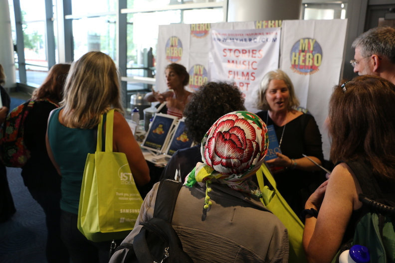 A steady stream of teachers stop by MY HERO's booth 4420 at ISTE 2106