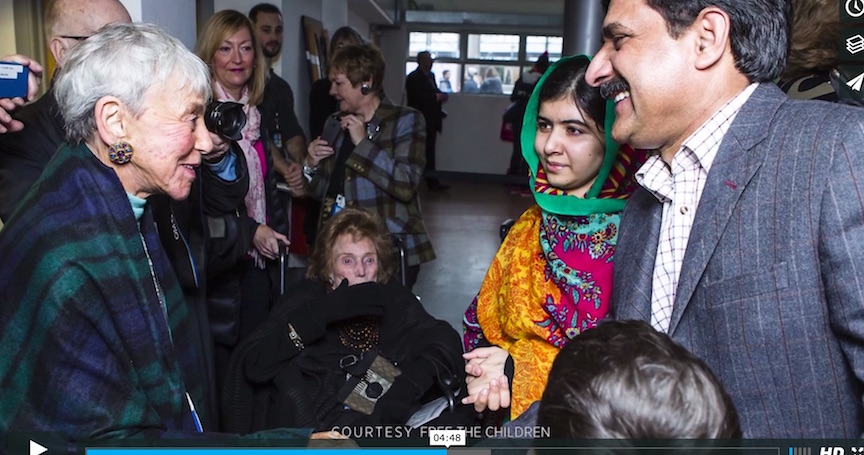 Eva Haller and Malala Yousafzai - photo: Free the Children