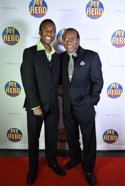 Trey Carlisle (left) at The MY HERO International Film Festival