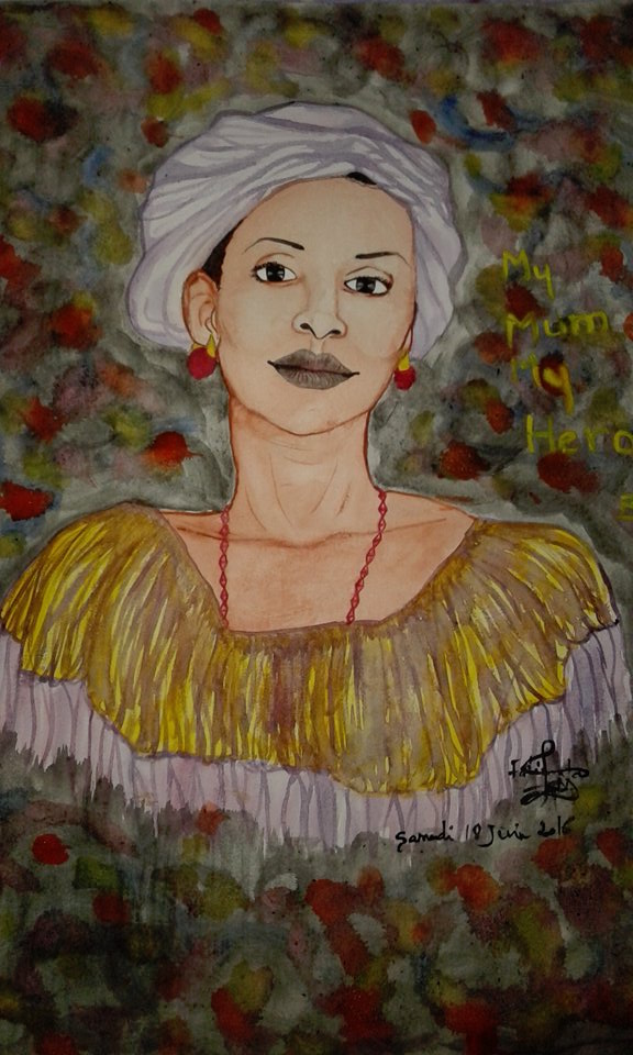 A portrait of her mother by Fatima Bindi Diallo
