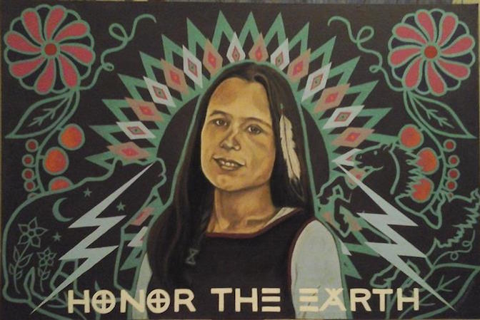 A portrait of Winona LaDuke by K.E. Harleston