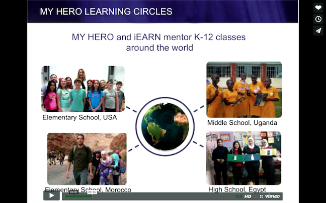 Screenshot of Wendy Jewell's presentation on Learning Circles