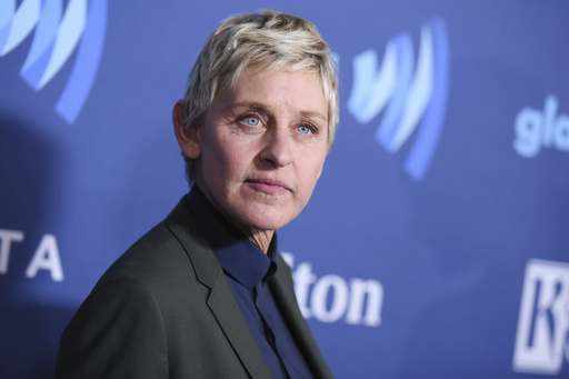 In this March 21, 2015, file photo, Ellen DeGeneres arrives at the 26th Annual GLAAD Media Awards held at the Beverly Hilton Hotel, in Beverly Hills, Calif. On the Feb. 23, 2017, episode of her chat show, DeGeneres handed out four-year scholarships paid for by Wal-Mart to the entire senior class of a New York City charter school. (Photo by Richard Shotwell/Invision/AP, File)