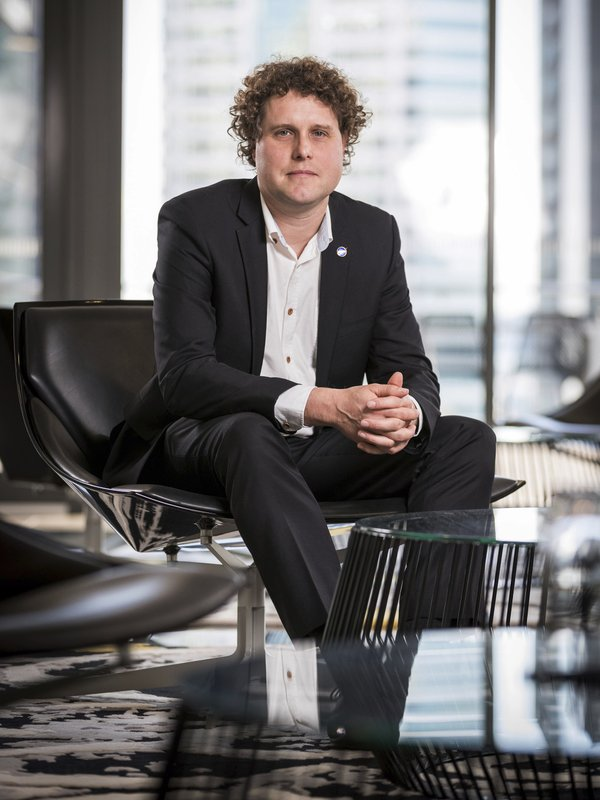 In this Aug.16, 2016 photo supplied by Rocket Lab, Peter Beck poses for a portrait in Auckland, New Zealand. New Zealand has never had a space program but could soon be launching commercial rockets more often than the United States. That's if the plans of California-based company Rocket Lab work out. Founded by New Zealander Peter Beck, the company was last week given approval by the Federal Aviation Authority to conduct three test launches from a remote peninsula and the first could come as early as Monday. (Rocket Lab via AP)