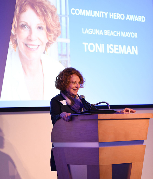 Mayor Toni Iseman was honored with the Community Hero Award