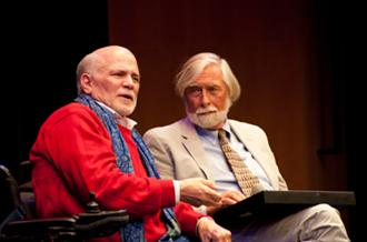 Ron Kovic and Truthdig Editor in Chief Robert Scheer at the 2014 MY HERO Day of Peace Celebration
