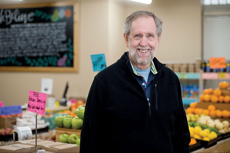 Doug Rauch opened Daily Table in the Boston neighborhood of Dorchester two years ago. It sells healthy food at bargain prices. (Ann Hermes/Staff)