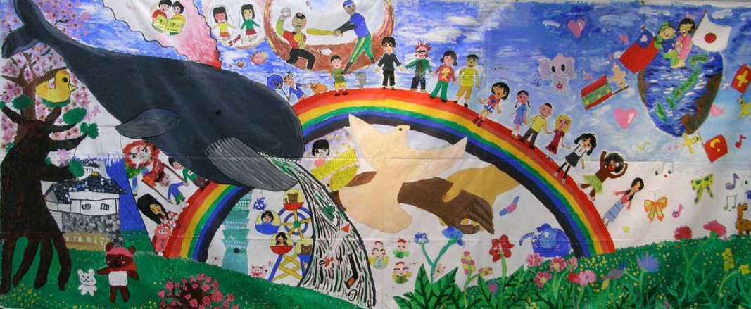 The my hero project about the virtual art gallery for Elementary school mural ideas