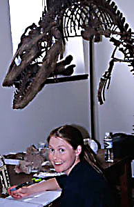 Kristi and Mosasaur (smm.org)